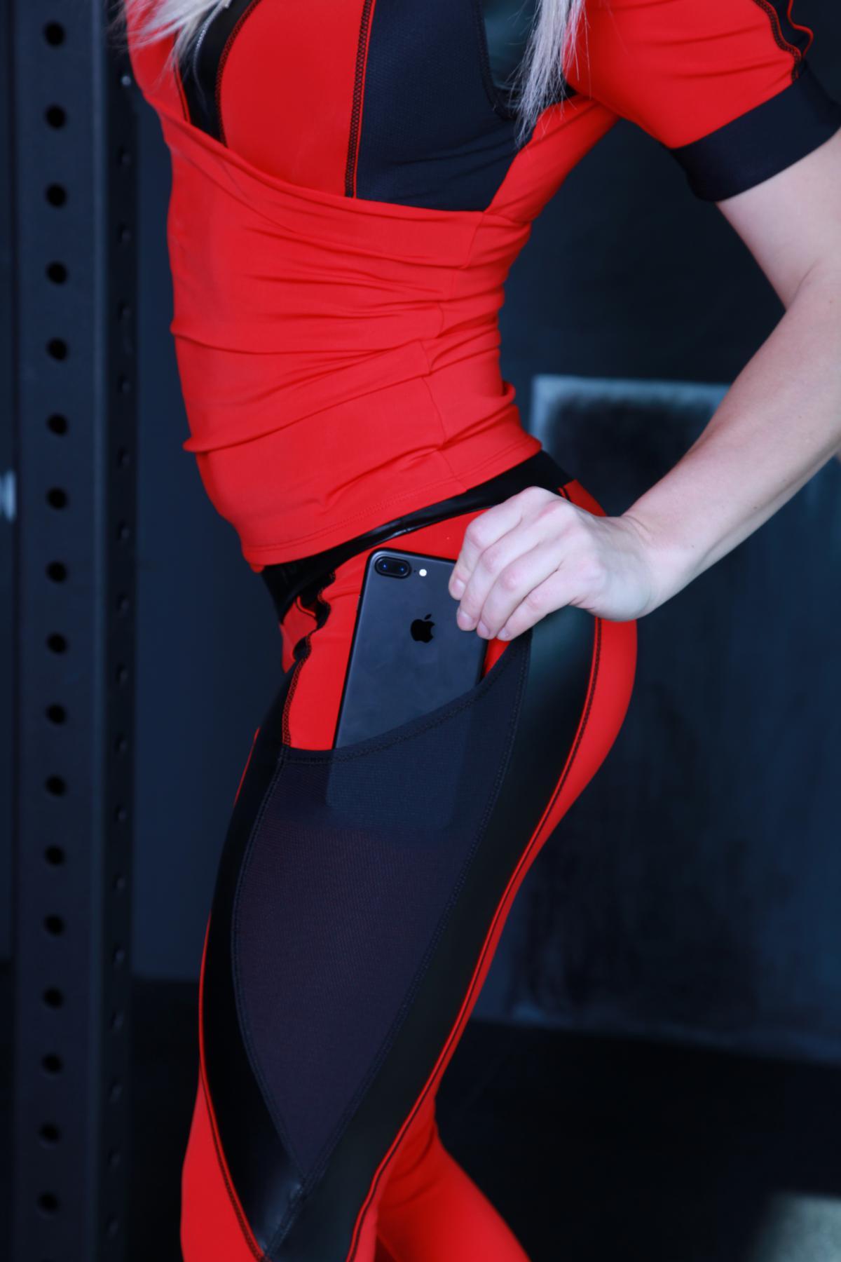 Компрессионные женские лосины с карманом SP311