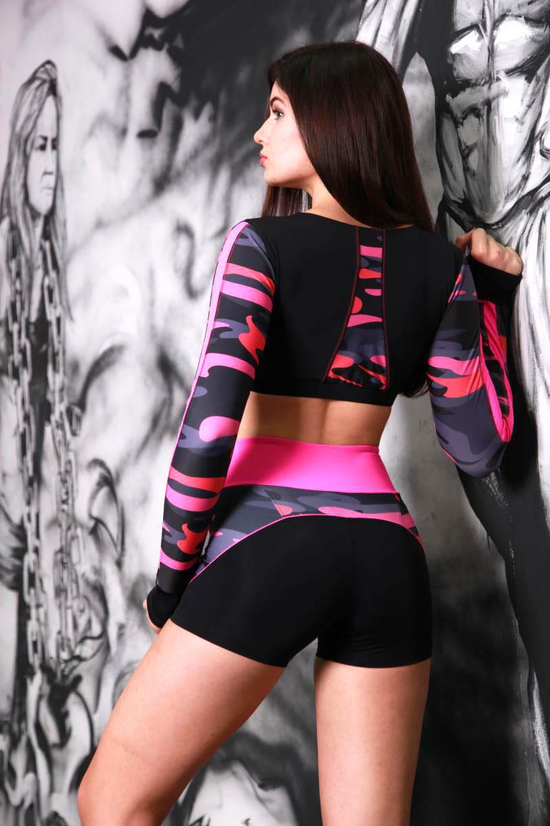 Спортивные шорты с высоким поясом Totalfit H-31