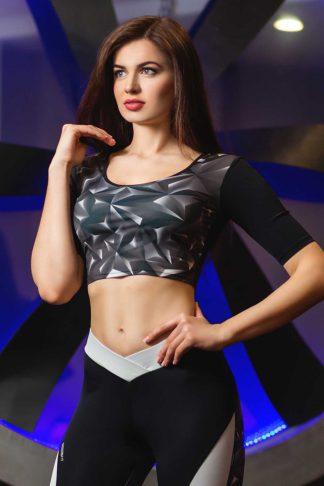 женский кроп топ для фитнеса