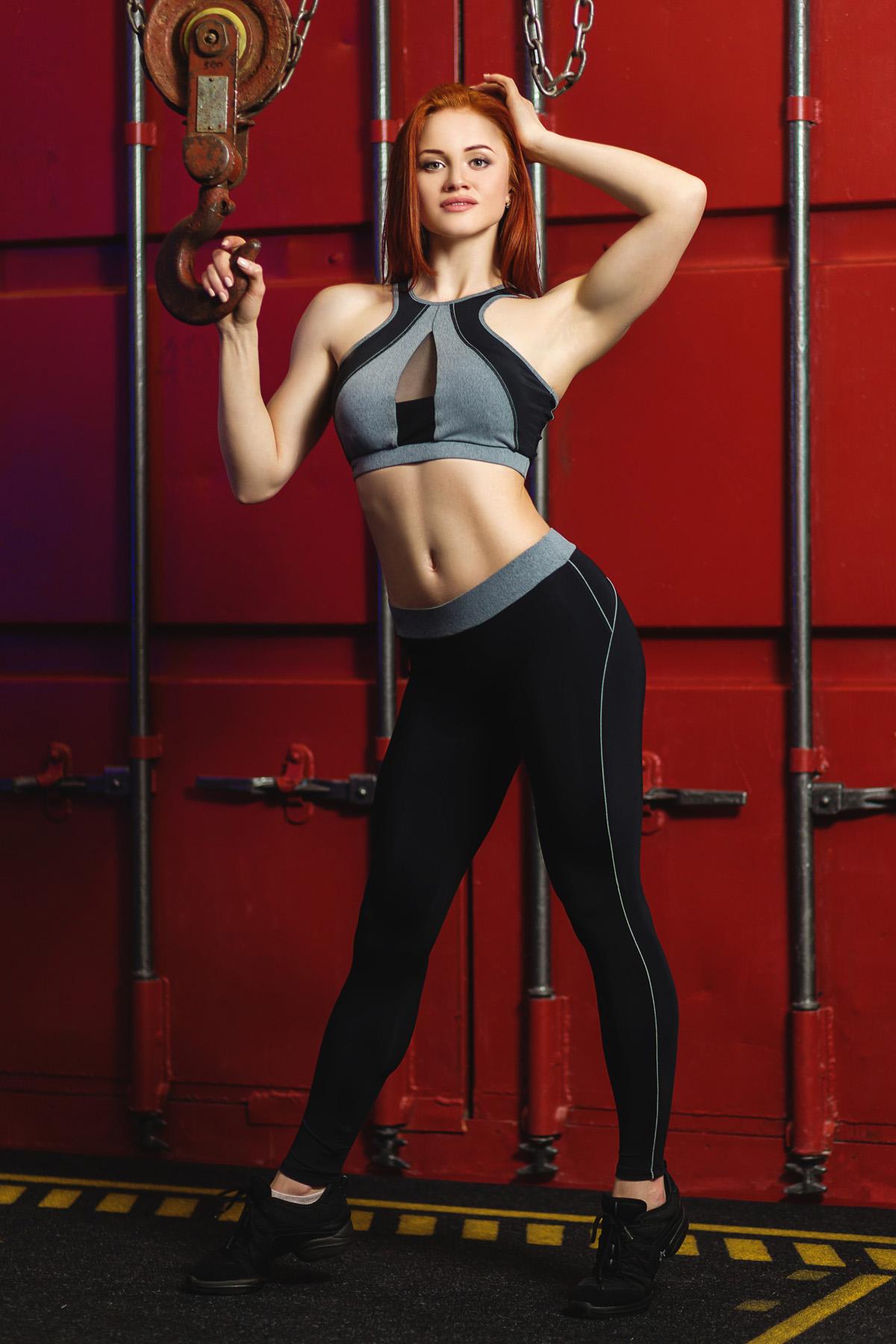 Спортивные лосины для фитнеса женские S-37