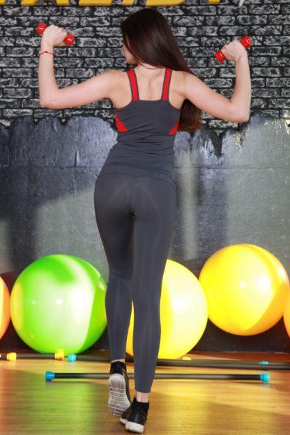Лосины с сеткой для фитнеса тоталфит
