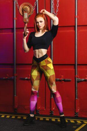 Компрессионные лосины для фитнеса totalfit