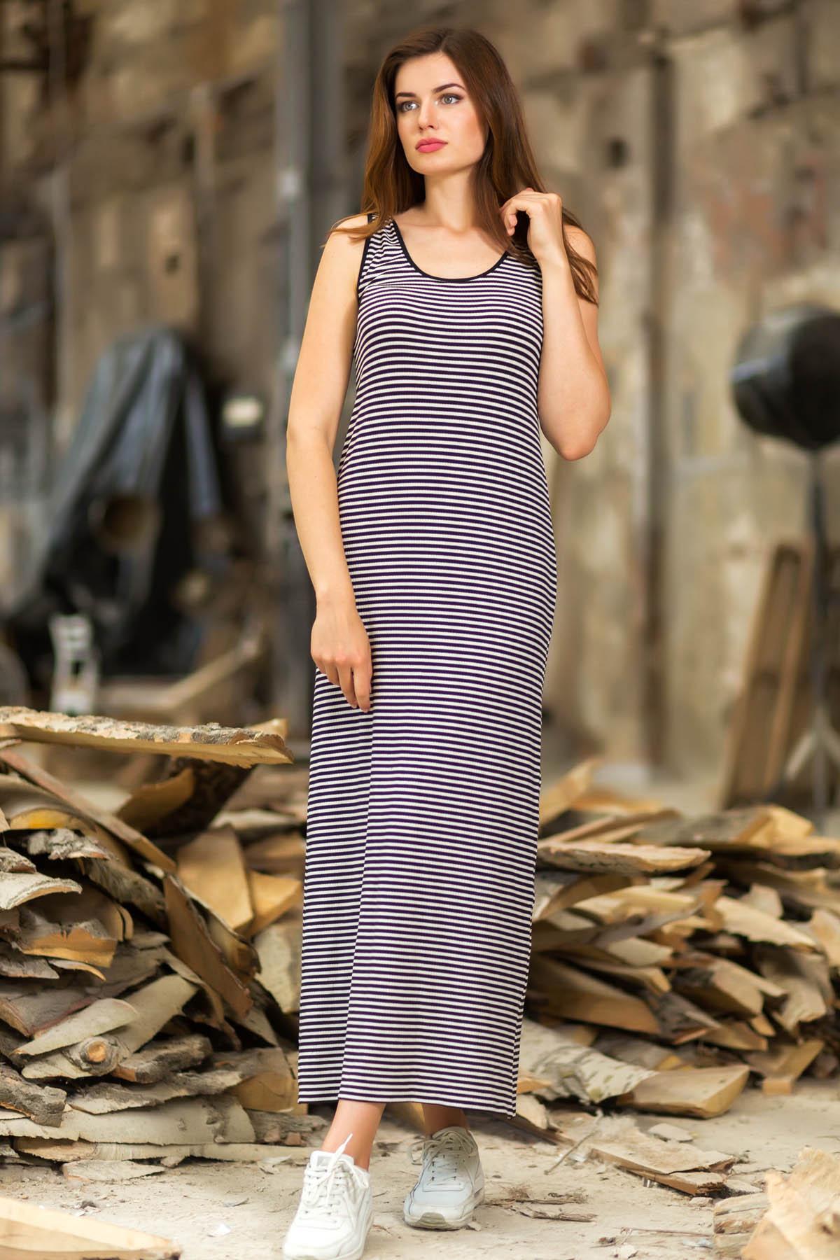 Платье длинное полосатое D-2