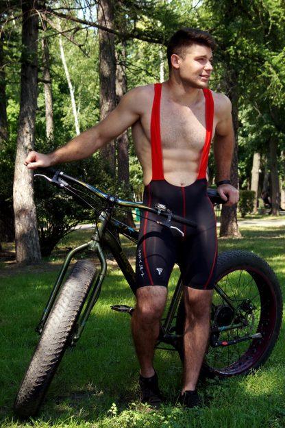 Велошорты мужские с лямками TOTALFIT VFG1-C10/4