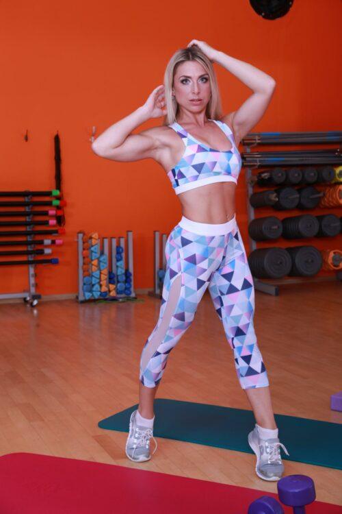 Спортивные женские бриджи для кроссфита mosaic-hot-ligh