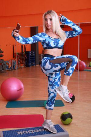 Бриджи тренировочные для фитнеса и йоги TotalFit