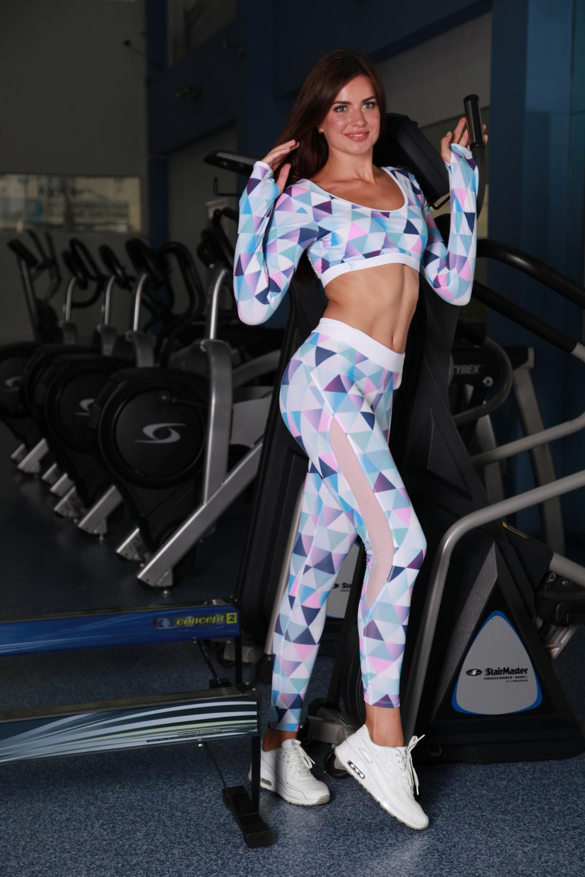 Спортивные женские лосины TotalFit для кроссфита hot-slim