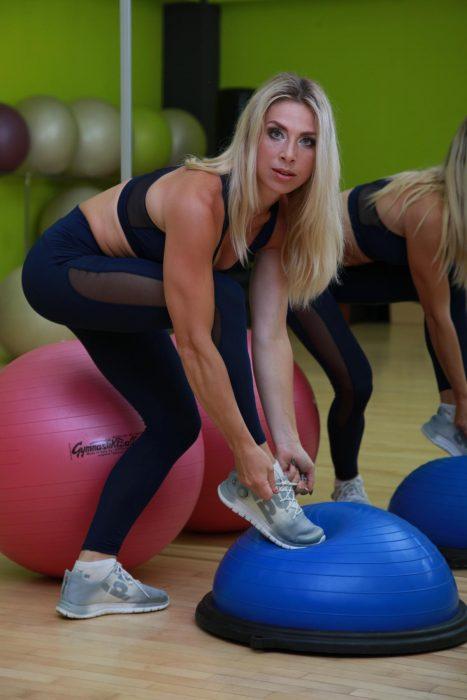 Привлекательные лосины, леггинсы для занятия фитнесом TotalFit Hot-Slim