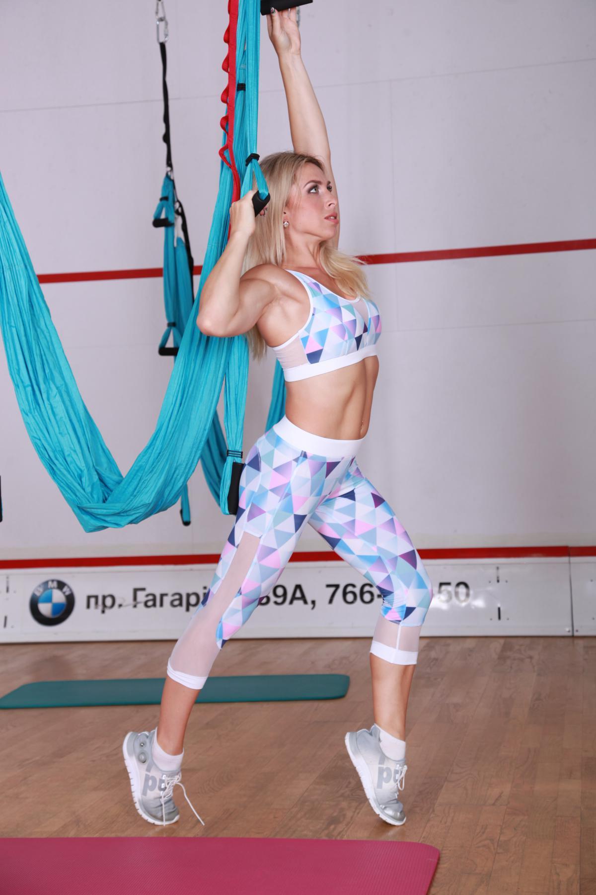 Женские бриджи для фитнеса mosaic-mesh-light