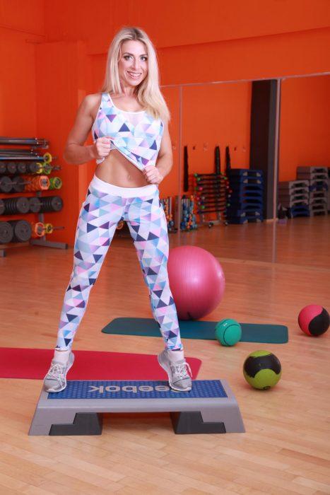 Спортивная майка женская для фитнеса TotalFit mosaic-mix-shirt