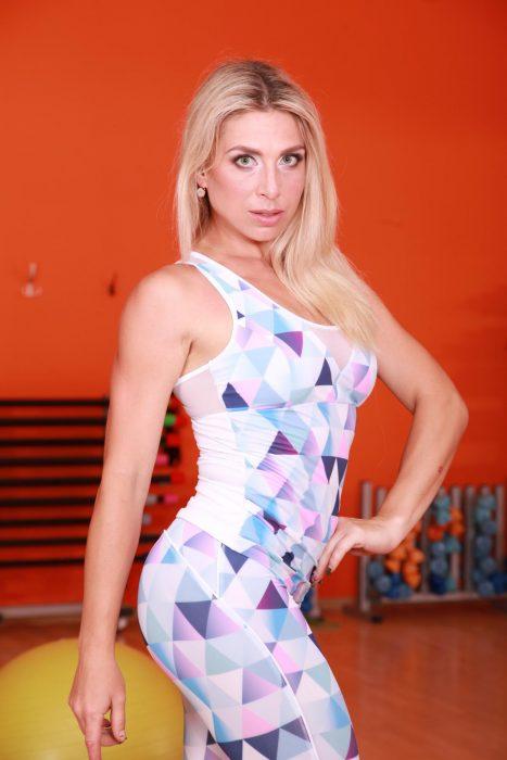 Спортивная майка женская TotalFit mosaic-mix-shirt