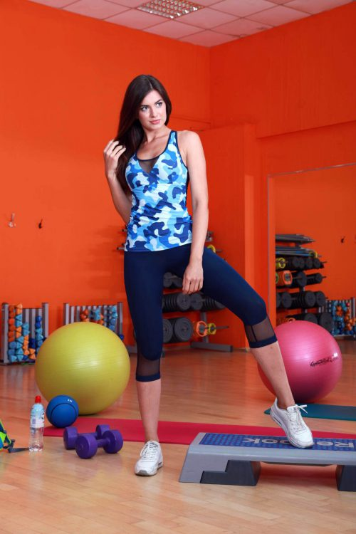 Майка для фитнеса женская TotalFit sea-mix-shirt