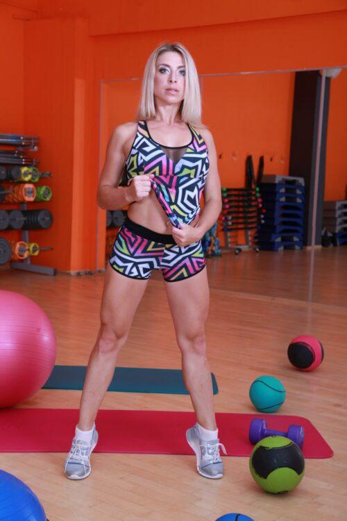 Спортивная майка женская TotalFit maze-mix-shirt