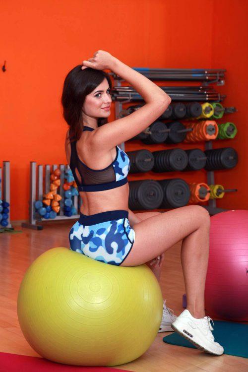 Модный женский топ для фитнеса TotalFit sea-mix-top
