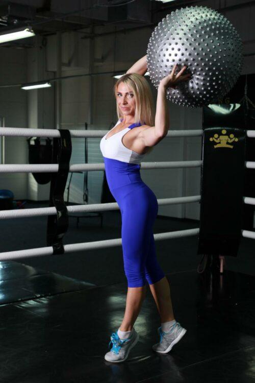 Спортивный комбинезон женский для фитнеса TotalFit (navy-fit)