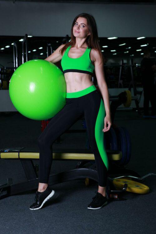 Лосины, леггинсы для занятия фитнесом TotalFit (petal-slim)