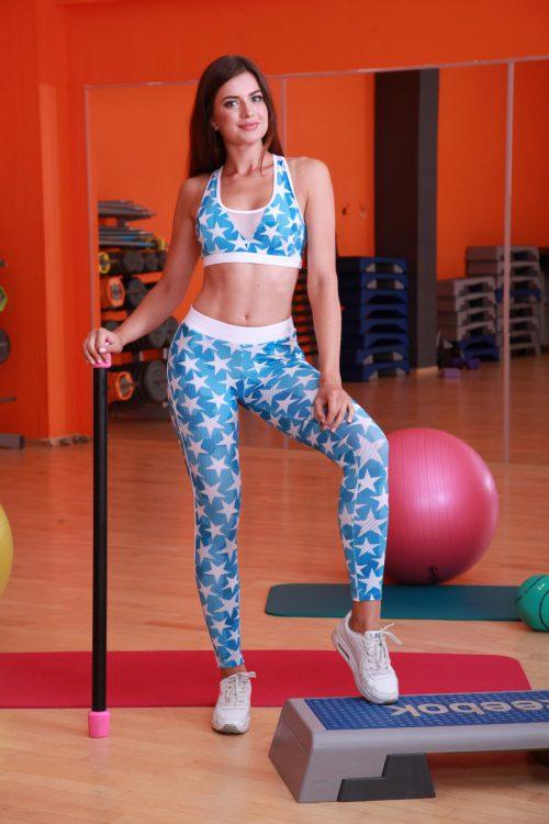 Спортивные лосины для фитнеса stars-star-slim